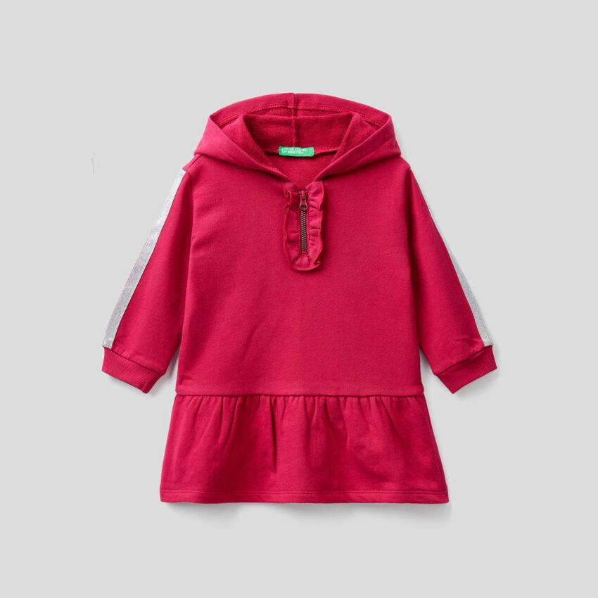 Kleid aus Sweatstoff mit Lurex-Details