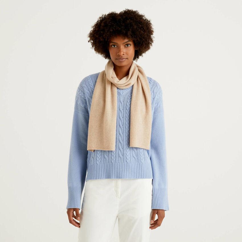 Klassischer Schal aus reinem Cashmere