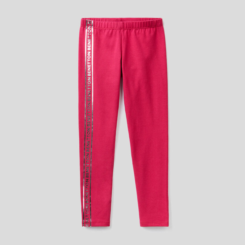 Leggings in Zyklame aus stretchiger Baumwolle