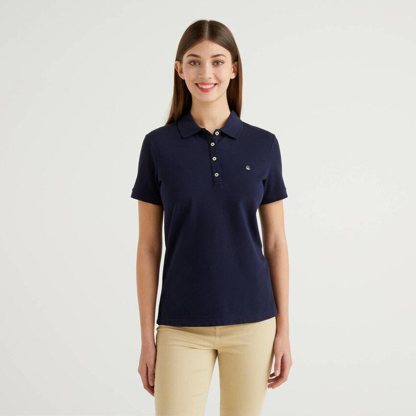 Polo aus stretchiger Baumwolle