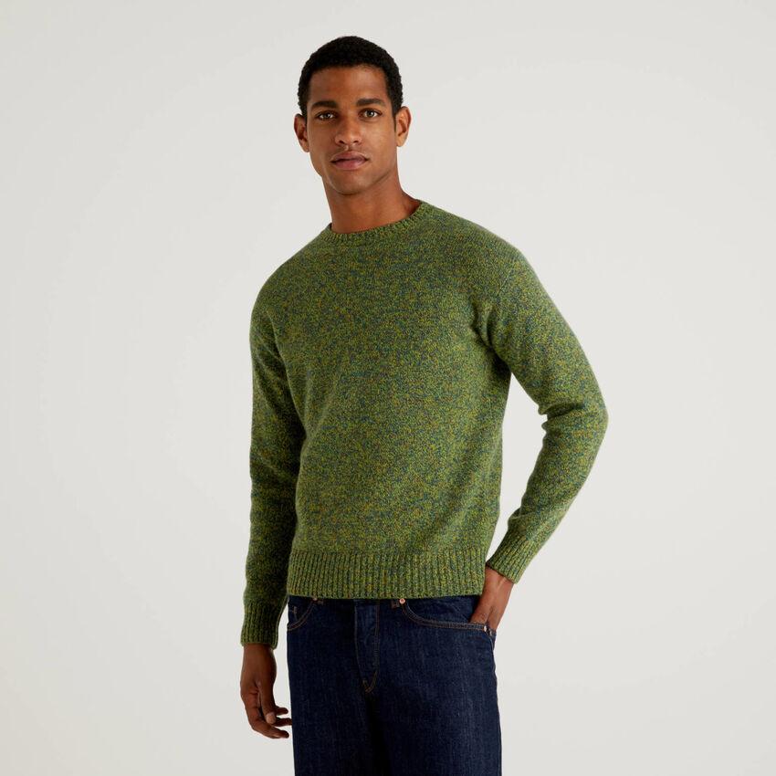 Pullover aus reiner Shetlandwolle mit Rundausschnitt