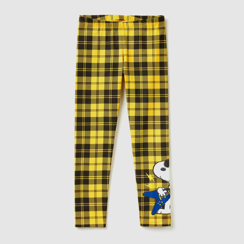 """Karierte Leggings mit Print """"Snoopy"""""""