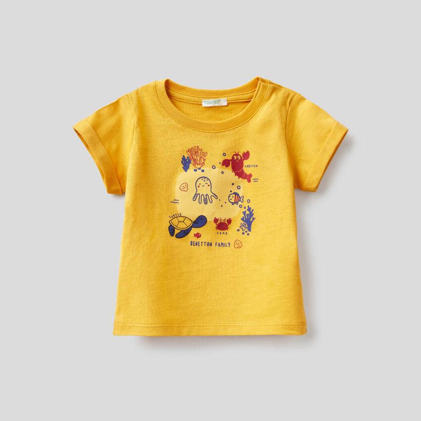 Gelbes T-Shirt aus Bio-Baumwolle