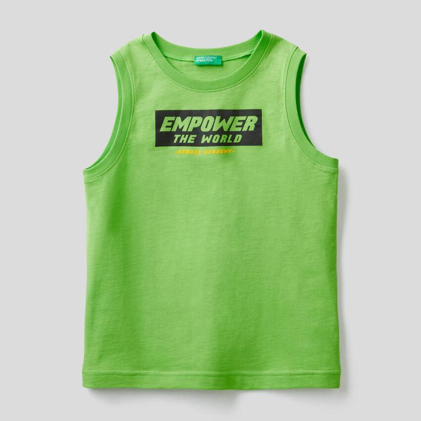 Ärmelloses T-Shirt mit Print